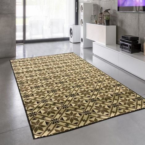 Tapis design et moderne 235x320 cm Rectangulaire BC CARREAU DE CIMENT Gris Salle à manger adapté au chauffage par le sol