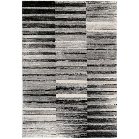 Tapis design noir et blanc rayé Wild stripes Esprit Home Noir ...