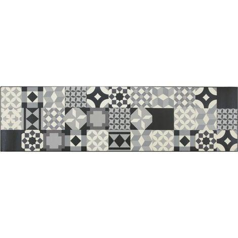 Tapis design pour cuisine carreaux de ciment rectangle Mallaig Multicolore 50x120 - Multicolore