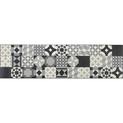 Tapis design pour cuisine carreaux de ciment rectangle Mallaig Multicolore 50x180 - Multicolore
