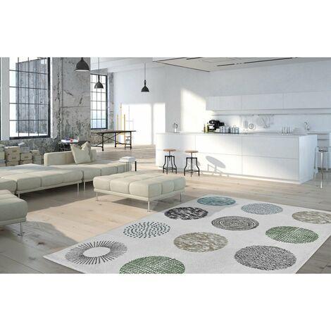Tapis design pour salon Dario Blanc 160x230 - Blanc