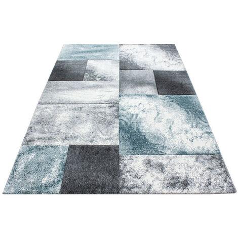 Tapis design pour salon géométrique Nicoletta Bleu 160x230 - Bleu