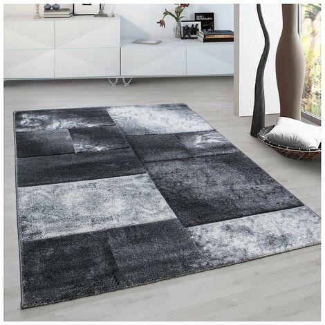 Tapis design pour salon géométrique Nicoletta Gris 160x230 - Gris