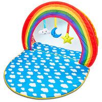 Tapis d'éveil et piscine à balles 2 en 1 pour bébé - Dim : H.9 x L.37 x L.37.5 cm -PEGANE-