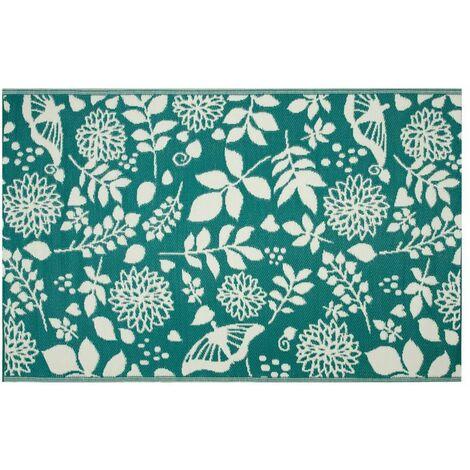 Tapis d'extérieur eco 240x150 cm - fleurs bleues