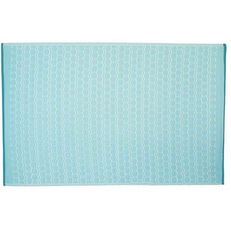 Tapis d'extérieur en PVC Solys - Bleu