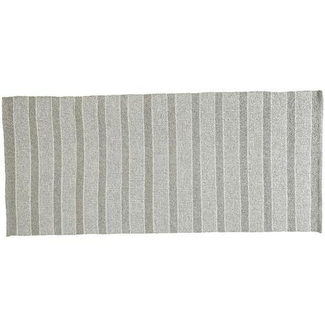 Tapis d'extérieur rectangulaire 180 x 120 cm motifs rayures larges - Jardideco