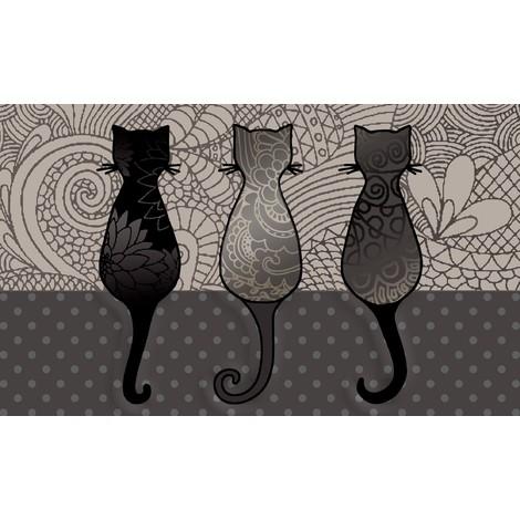Tapis d'intérieur anti-poussière Chats 45x75cm