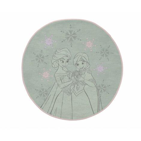 Tapis Disney vert rond pour fille Sisters Vert Ø 90