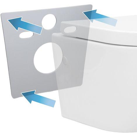 Tapis d'isolation acoustique court pour WC toilette en mousse PE élastique gris