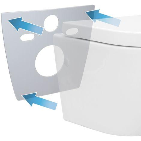 Tapis d'isolation acoustique longue pour WC toilette en mousse PE élastique gris