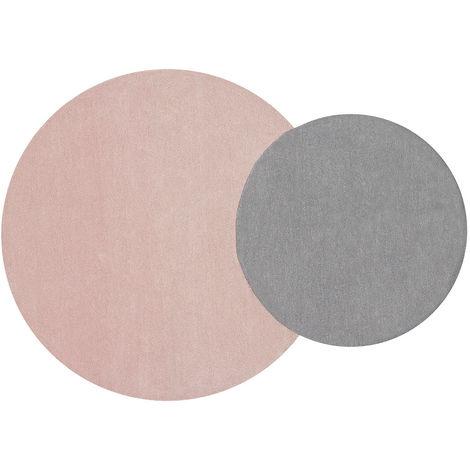 tapis double gris et rose 140x200cm eclipse 43839. Black Bedroom Furniture Sets. Home Design Ideas