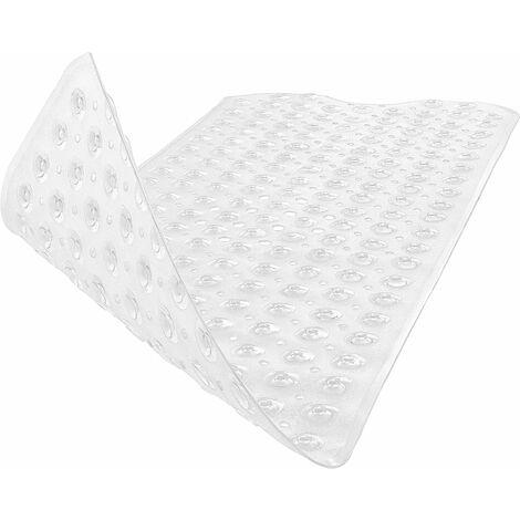 Tapis Douche pour peaux sensibles-tapis de bain 100x40 cm pour enfants et bébés tapis de douche antidérapant tapis antidérapant (transparent)