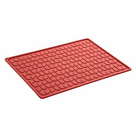 Tapis égouttoir pour vaisselle - 30 x 40 cm - Rouge