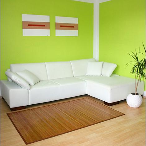 Tapis en bambou brun 200 x 200 cm