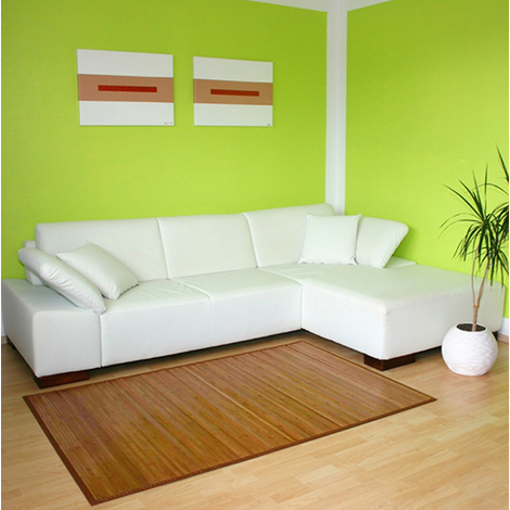Tapis en bambou brun 245 x 345 cm