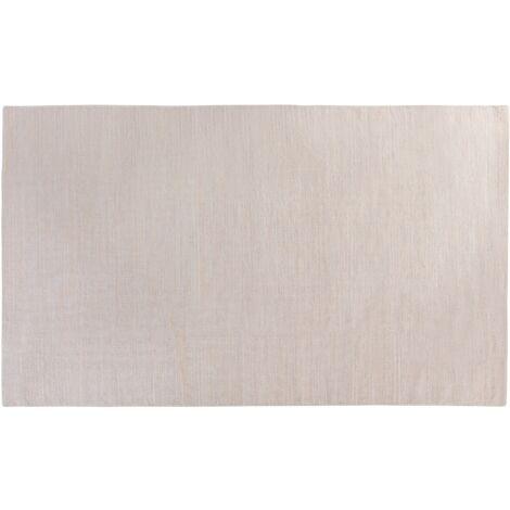Tapis en coton beige résistant
