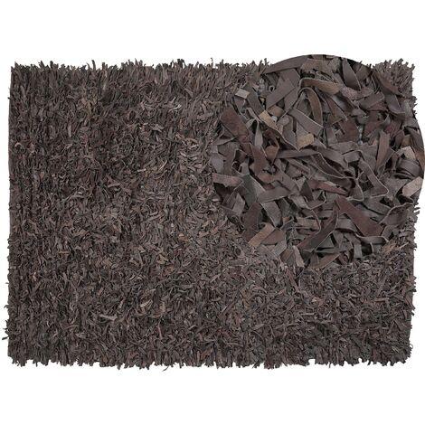Tapis en cuir marron 160 x 230 cm MUT