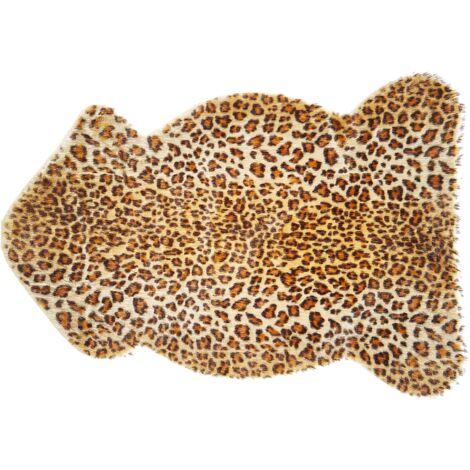 Tapis en fausse fourrure de léopard 60 x 90 cm NAMBUNG