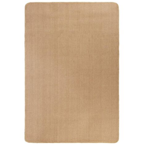 Tapis en jute avec support en latex 160 x 230 cm Naturel