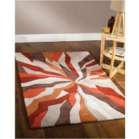 Tapis en polyester moderne pour salon Splinter Orange 200x290