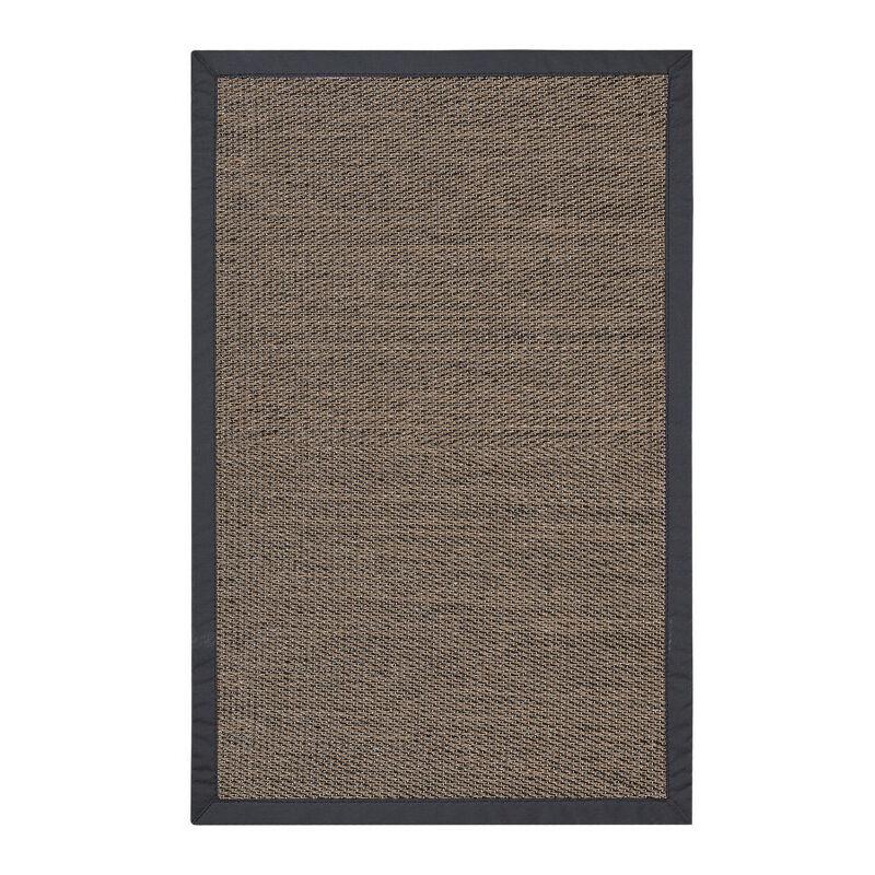 Tapis en vinyle Deblon avec bords, Marron foncé 80 x 150 cm