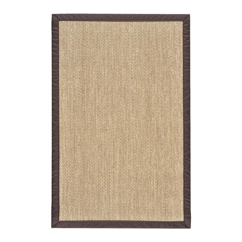 Tapis en vinyle Deblon avec bords, Marron clair 160 x 230 cm