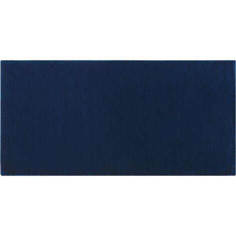 Tapis en viscose bleu marine 80 x 150 cm GESI II