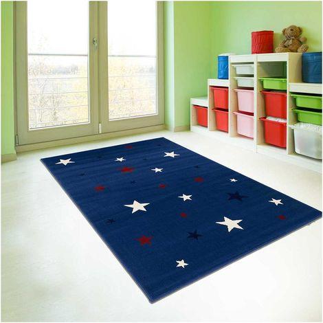 Tapis enfant cm Rectangulaire AF NIGHTSKY Bleu Chambre adapté au chauffage par le sol