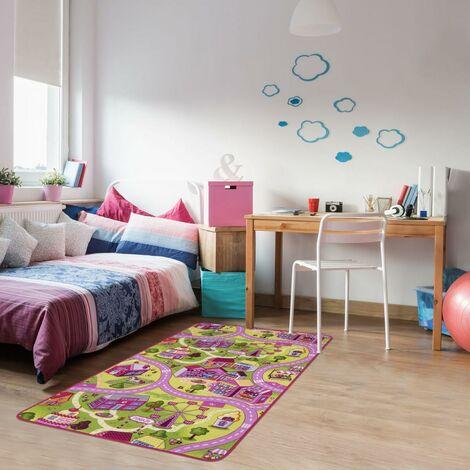 Tapis enfant cm Rectangulaire PINKHORAOD Rose Chambre Tufté adapté au chauffage par le sol