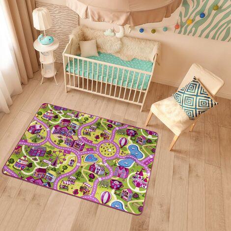 Tapis enfant cm Rectangulaire PINKROAD Rose Chambre Tufté adapté au chauffage par le sol