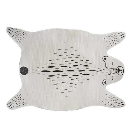 Tapis enfant forme ourson - Blanc