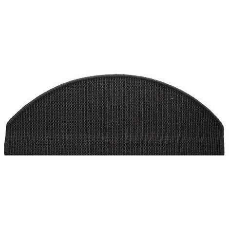 Tapis escalier sisal black 28x65cm