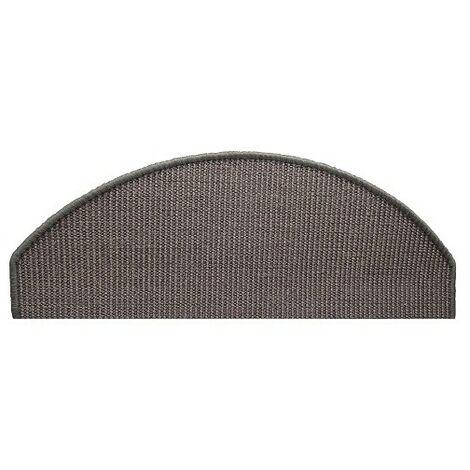 Tapis escalier sisal grey 28x65cm
