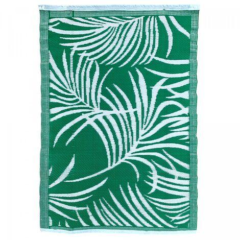 Tapis exterieur cm Rectangulaire FEUILLAN REVERSIBLE Vert Terrasse, jardin adapté au chauffage par le sol
