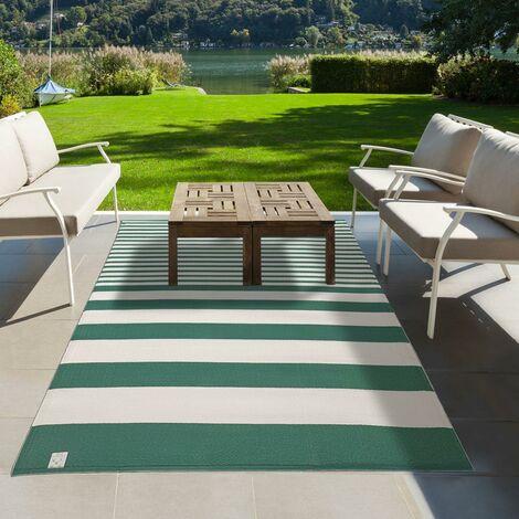 Tapis exterieur cm Rectangulaire LINGAN REVERSIBLE Vert Terrasse, jardin adapté au chauffage par le sol