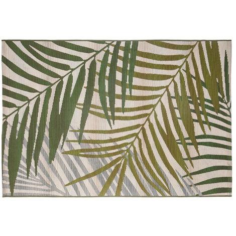 Tapis extérieur et intérieur vert - 100 x 150 cm -PEGANE-