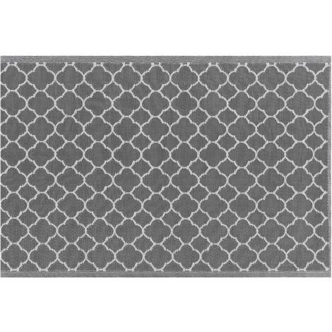 Tapis extérieur gris au motif marocain 120 x 180 cm SURAT