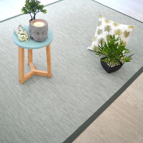 Tapis extérieur PVC tressé - Gris perle - 180 x 280 cm