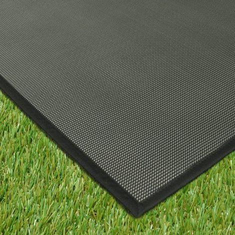 Tapis extérieur PVC tressé - Noir