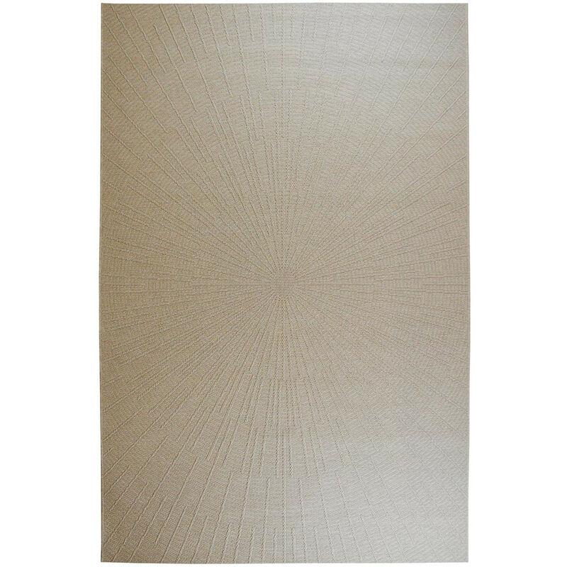 Deladeco - Tapis extérieur et intérieur moderne Migo Ecru 155x230 - Ecru