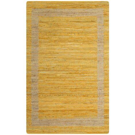 Tapis fait à la main Jute Jaune 160x230 cm