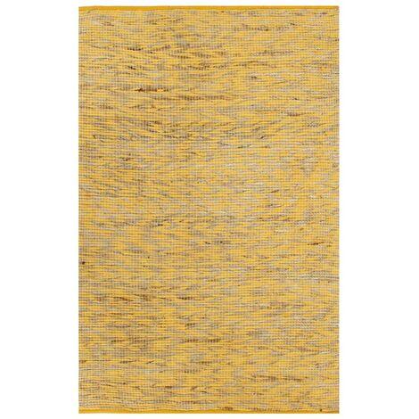 Tapis fait à la main Jute Jaune et naturel 160x230 cm