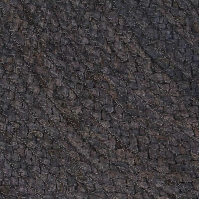 vidaXL Tapis Fait /à la Main Moquette Carpette Plancher Coussin de Sol Salon Chambre /à Coucher Int/érieur Salle de S/éjour Maison Jute Rond 90 cm