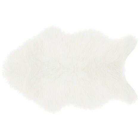 Tapis fausse fourrure 60x90 cm - Blanc