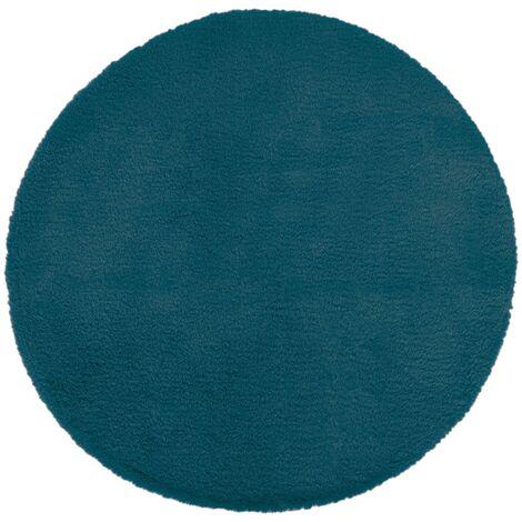 Tapis fausse fourrure extra doux CA 80 cm - Bleu