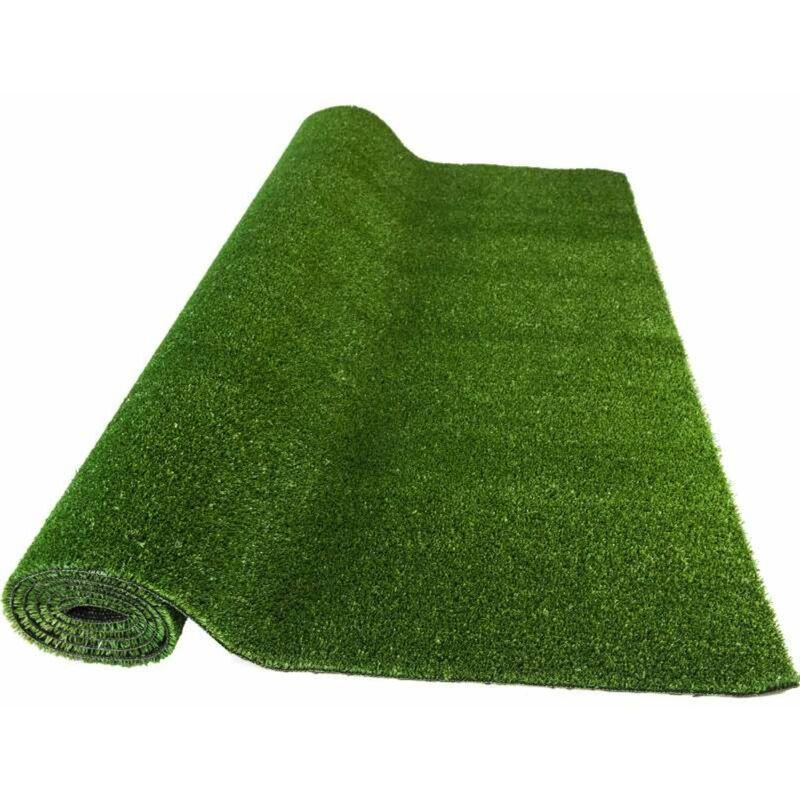 Rouleau 1,33 m x 5 ml moquette extérieure verte sur plots faux gazon artificiel