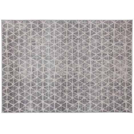 Tapis graphique beige 150 x 200 cm FLAKE