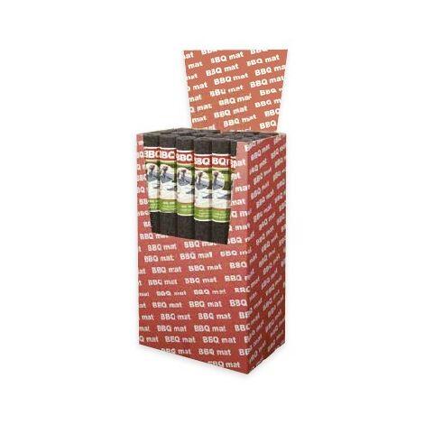 Tapis ignifugé pour barbecue 100x120cm anthracite, box de 24 tapis
