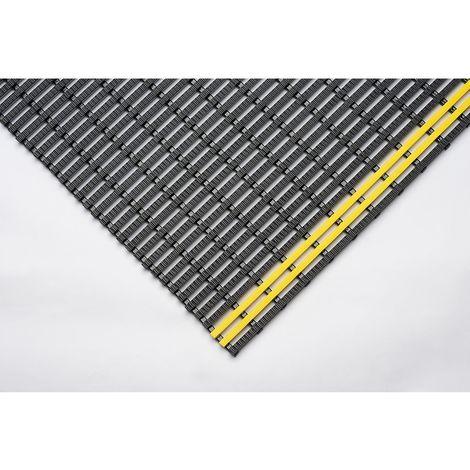 """main image of """"Tapis industriel antidérapant, rouleau de 10 m noir-jaune, largeur 600 mm"""""""